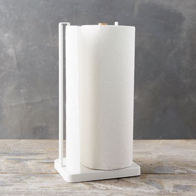 White Steel Paper Towel Holder