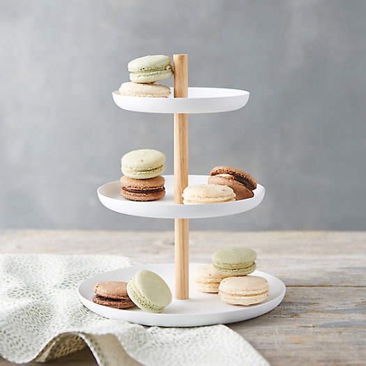 View larger image of White Steel Three-Tier Stand
