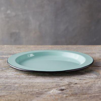 Pastel Enamel Dinner Plate