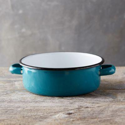 Pastel Enamel Handled Bowl