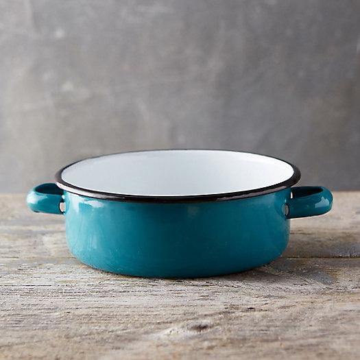 View larger image of Pastel Enamel Handled Bowl