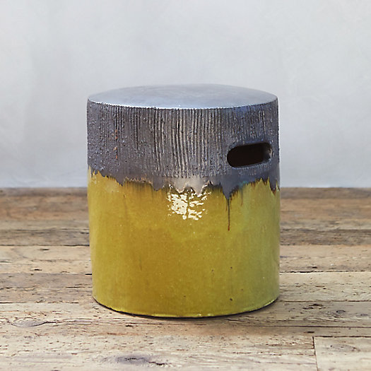 View larger image of Glazed Ceramic Stool