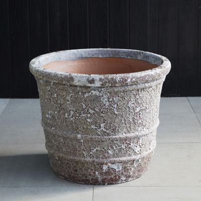 Banded Stoneware Planter
