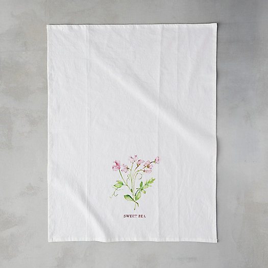 View larger image of Garden Blossoms Cotton Tea Towel