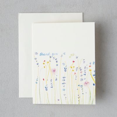 Wild Meadow Thank You Cards