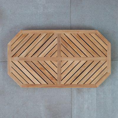 Geometric Teak Doormat