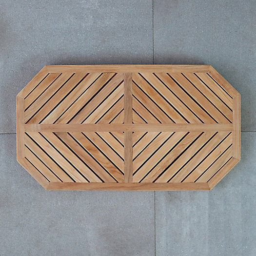 Geometric Teak Doormat by Terrain