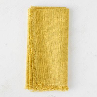 Fringed Rustic Linen Napkin