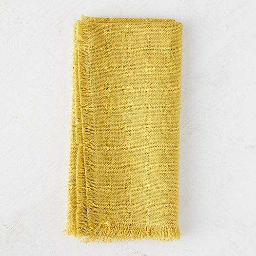 View larger image of Fringed Rustic Linen Napkin