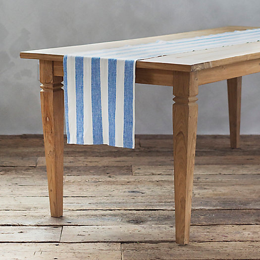View larger image of Striped Linen Table Runner
