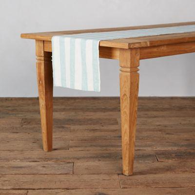 Striped Linen Table Runner