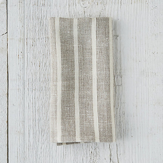View larger image of Striped Linen Napkin
