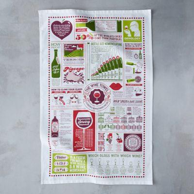Wine Guide Tea Towel