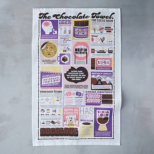 View larger image of Chocolate Guide Tea Towel