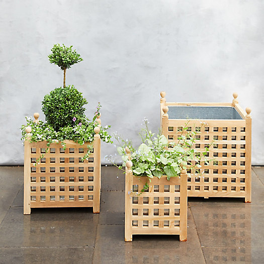 View larger image of Teak Lattice Planter