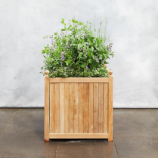 View larger image of Teak Slatted Planter