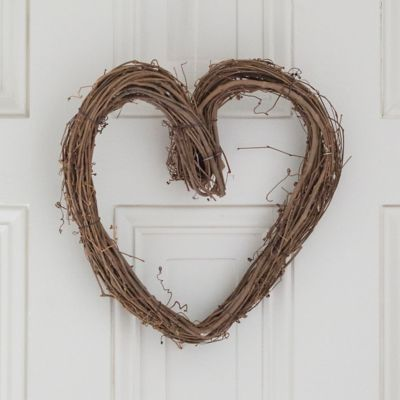 Solid Grapevine Heart Wreath