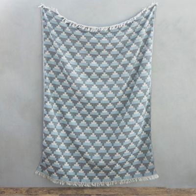 Pyramids Jacquard Cotton Throw