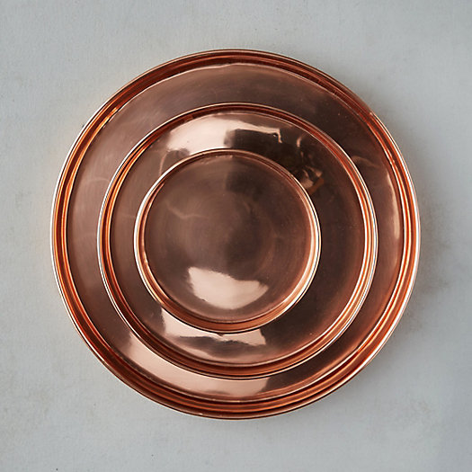 View larger image of Habit + Form Solid Copper Circle Tray