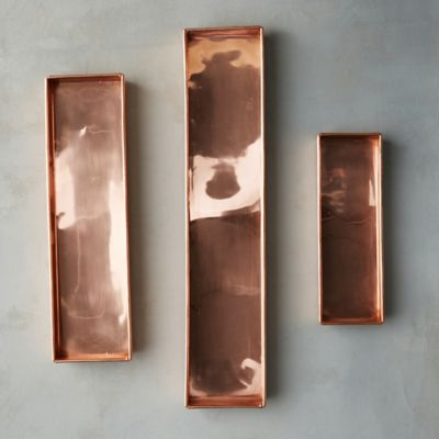 Habit + Form Solid Copper Rectangle Tray