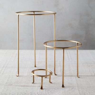 Solid Brass Plant Stand, Tall