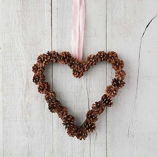 View larger image of Pinecone Heart Wreath