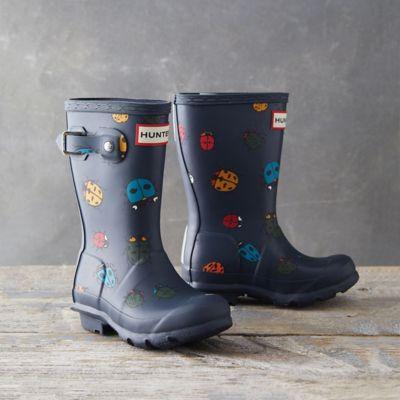 Hunter Kids Classic Rain Boots, Ladybug