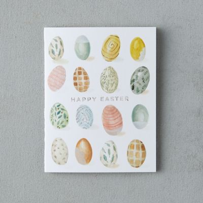 Easter Egg Print Blank Card