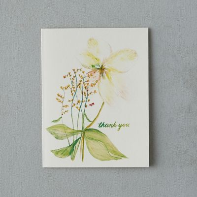 Yellow Blossom Thank You Card