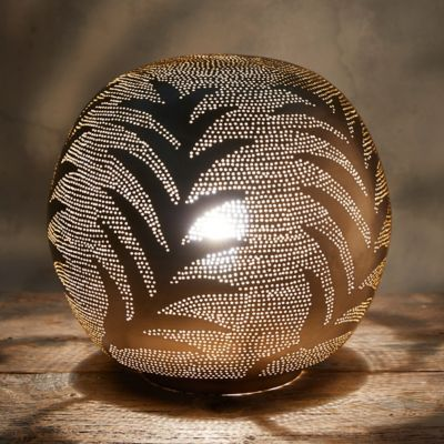 Zenza Leaf Sphere Table Lamp