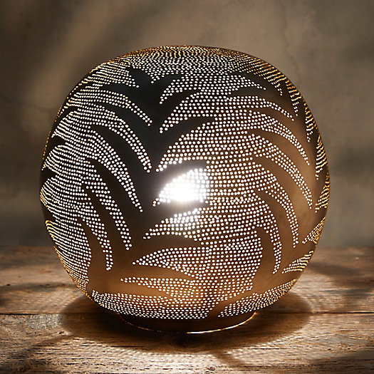 View larger image of Zenza Leaf Sphere Table Lamp