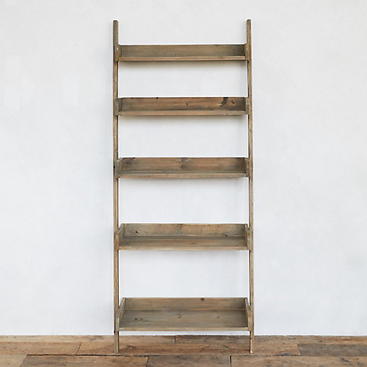 View larger image of Reclaimed Pine Leaning Shelf