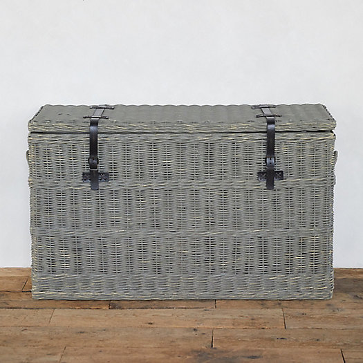 View larger image of Wicker Console Trunk
