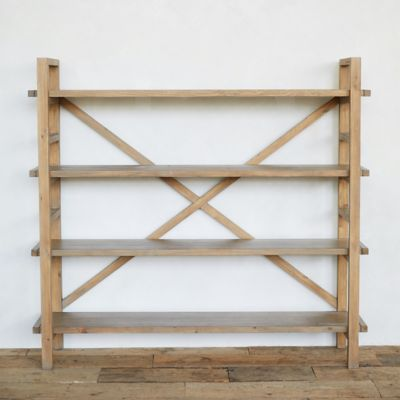 Reclaimed Pine Crossback Shelf