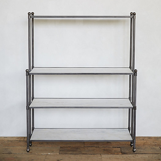 View larger image of Marble + Iron Conservatory Shelf