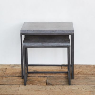 Cement Topped Nesting Table Set