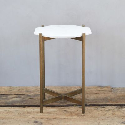Marble + Brass Accent Table