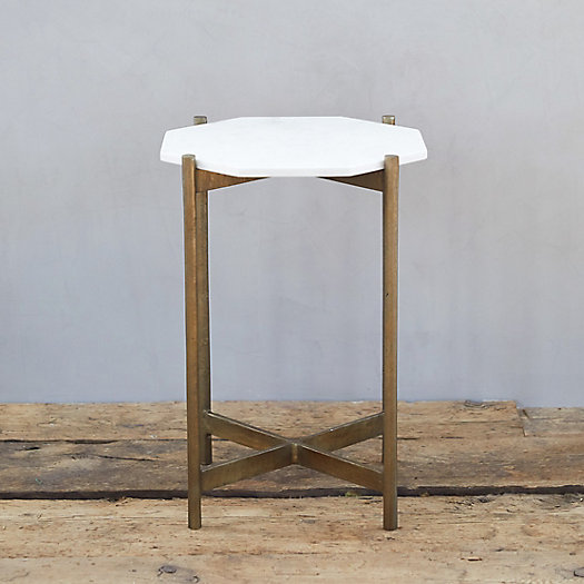 View larger image of Marble + Brass Accent Table