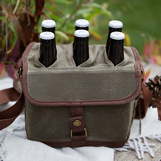 View larger image of Waxed Canvas Beer Caddy