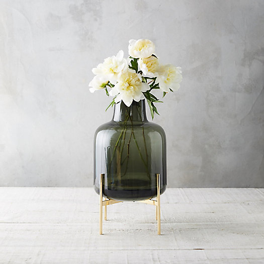 View larger image of Square Neck Vase, Brass Stand