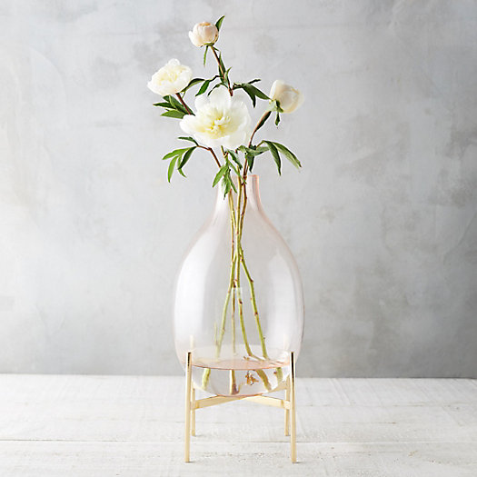 View larger image of Oval Neck Vase, Brass Stand