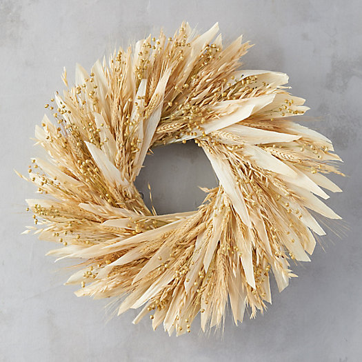 View larger image of Flax + Wheat Wreath