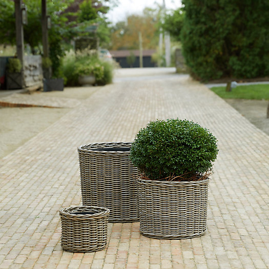View larger image of All Weather Wicker Cylinder Planter