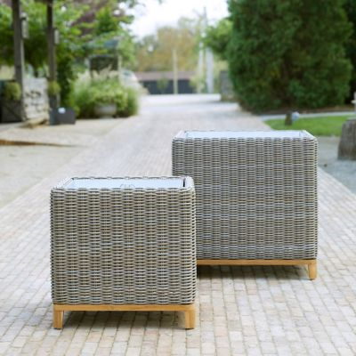 All Weather Wicker Cube Planter