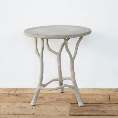 Faux Bois Accent Table