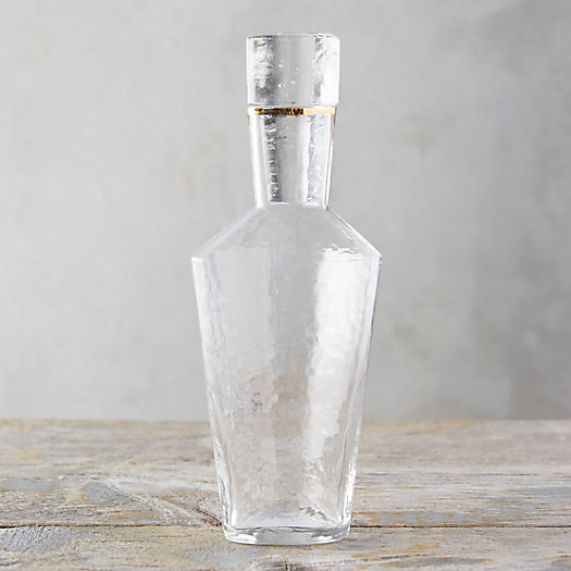 View larger image of Hammered Glass Carafe