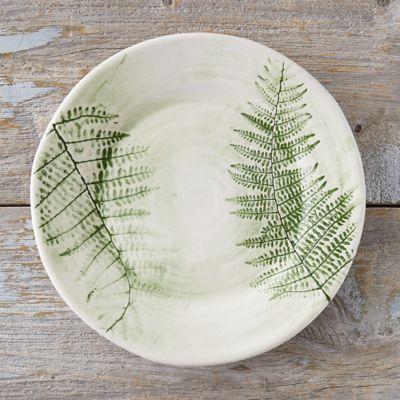 Green Fern Dinner Plate