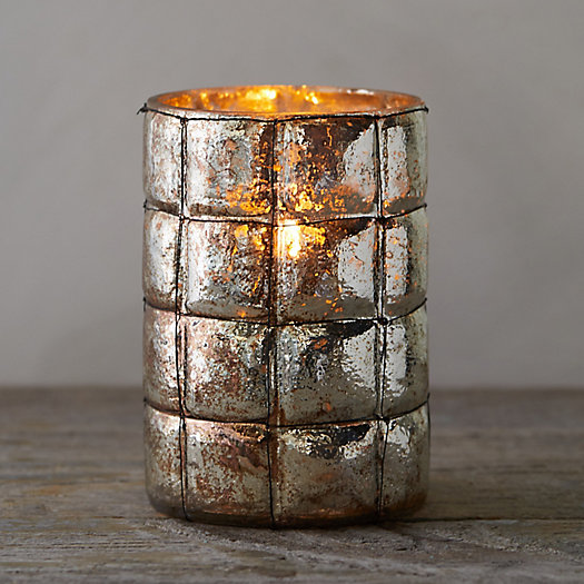 View larger image of Oxidized Glass Votive Holder