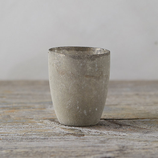 View larger image of Textured Gray Tealight Holder