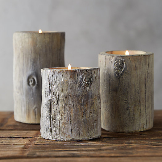 View larger image of Faux Bois Tea Light Holder